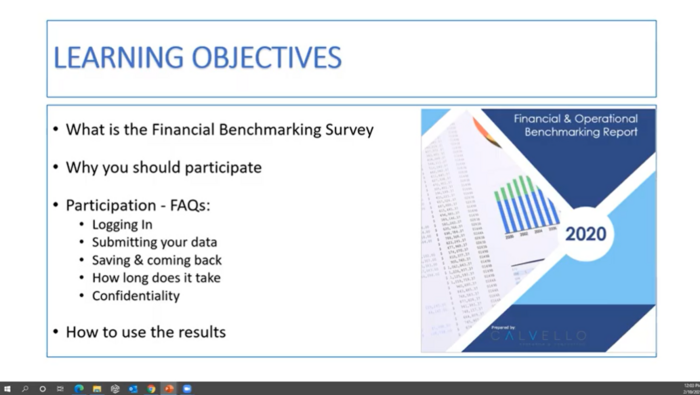 Financial Benchmarking Overview